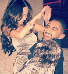 """New Year holiday 2016 revelry - Natasha Tagai and George Cadenas laugh it up in a pic that Tagai calls her """"favorite"""" of all time. 2016 All rights reserved. IDTheftReport2020.com"""