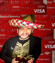 """CHICAGO -The parties and fiestas are over for Bank of America exec Mario Elizondo Valenzuela, The red Bank of America """"Temporary"""" cards are just some of the actual bogus debit cards Mario illegally obtained and quickly emptied out Bank of America customer accounts Valenzuela fraudulently linked to them. In this image Mario Elizondo was celebrating Cinco de Mayo at Mercadito in Chicago - one of hundreds of businesses in Chicago and many other cities that Mario defrauded. 2016 All rights reserved IDTheftReport2020.com"""
