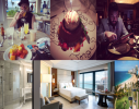 """PUERTO RICO - Vanderbilt Condado luxury resort hotel - Mario Elizondo and Jorge Cadenas checked in Sept 4th and checked out Sept 8th 2015. [TOP CENTER] Another birthday cake presentation for fraudster Jorge Cadenas -this time with a candle - by Chef Cuevas of the Vanderbilt Condado's highly acclaimed - Michelin listed - 1919 Restaurant. Bank of America's Banco Bandito Mario Elizondo [TOP RIGHT] inspects 1919's fine dining menu, another establishment the pair ripped off for the vacation getaway Elizondo and Cadenas booked online charging thousands of dollars to their victims credit and bogus debit cards gained by stealing their identities. The Tower Oceanview suite with spectacular beachfront view featured a king-size bed - as their usual request - [BOTTOM] Italian marble, Egyptian fine linens, 55"""" LCD and a list of many other 5 star amenities. A leisurely Moet Champagne breakfast [TOP LEFT] spent catching up on all the latest in men's fashion in the Sept 2015 issue of GQ. Cheers! A toast raised to Banco Bandito's asleep at the wheel management throughout Bank of America! Yet another Moet champagne toast [BOTTOM RIGHT] to the GOOD LIFE - STOLEN that is by Mario Elizondo and Jorge Cadenas at the expense of literally hundreds and hundreds of unsuspecting victims. 2016 All rights reserved IDTheftReport2020.com"""