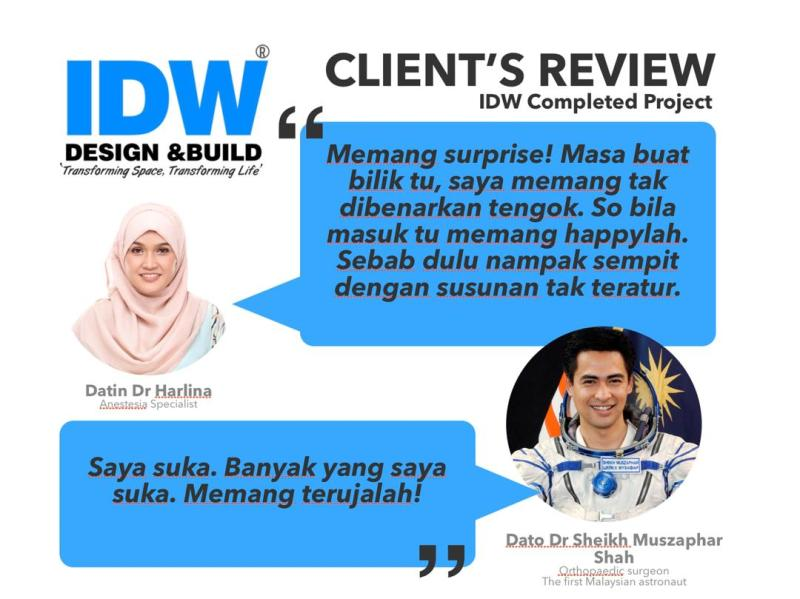IDW Design Home Owner Review - Datin Dr Halina