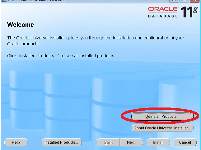 Uninstall Oracle