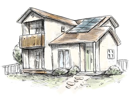 エコットA-CAFEをベースにしたフルオーダー住宅