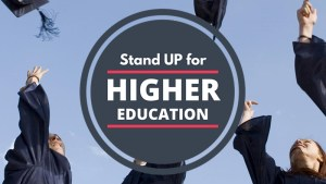Stand UP for Higher Education - Learn More