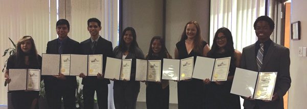 iecn photo/yazmin alvarez  Northside Impact Committee awarded scholarships to eight high school students from the Redlands Unified School District during the group's 25th annual awards ceremony Oct.1