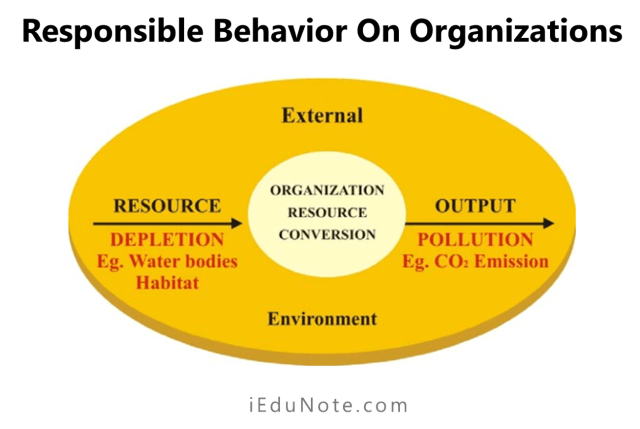 responsible behaviour on the organisations