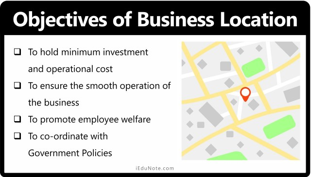 Objectives of Business Location