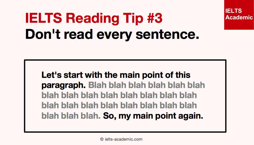 IELTS Reading Tip 3