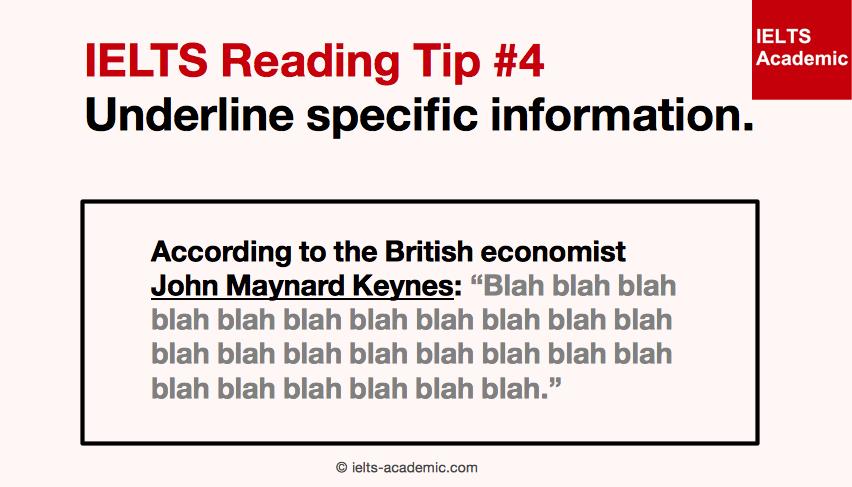 IELTS Reading Tip 4