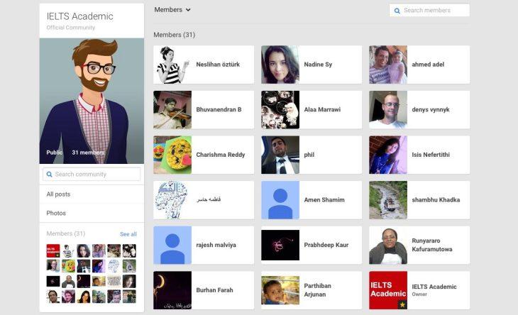 Find an IELTS Buddy at Google+