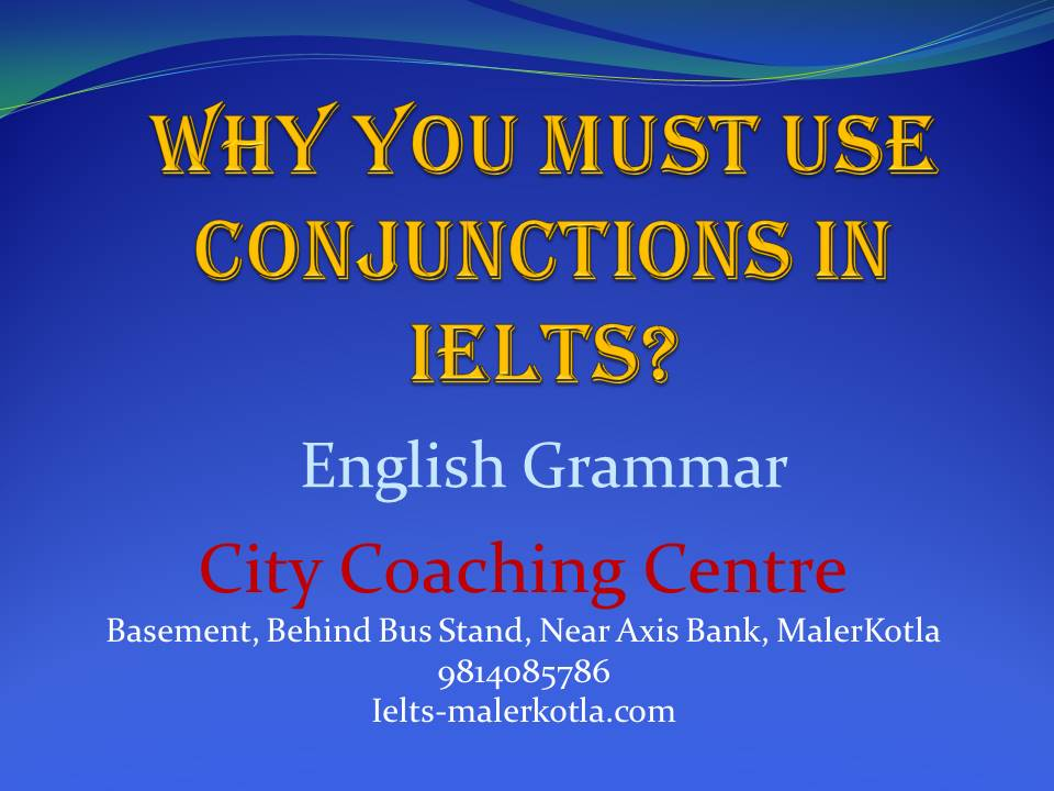 Use of Conjunctions