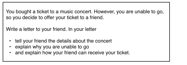 General IELTS Writing Concert Ticket Topic