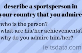 describe a sportsperson in your country that you admire.