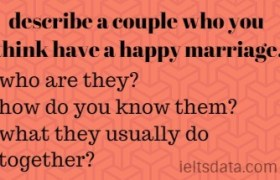 describe a couple who you think have a happy marriage.