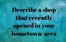 Describe a shop that recently opened in your hometown/area