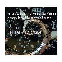 Ielts Academic Reading Passage A very brief history of time