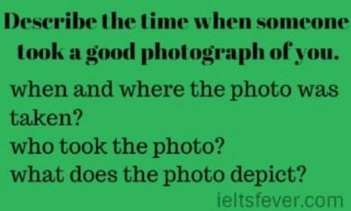 Describe the time when someone took a good photograph of you.