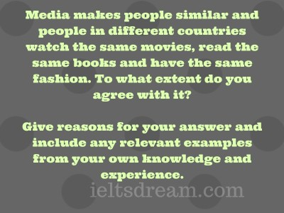 Media makes people similar and people in different countries watch