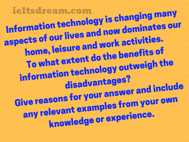 Information technology is changing many aspects of our lives and now