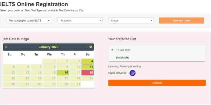 Step one Online IELTS Registration Process and Test Dates