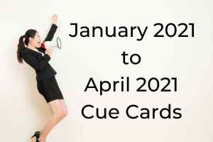 January 2021 to April 2021 Cue Cards with Answers