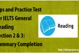 ieltsgeneral.com - tips and practice test for IELTS General Reading Section 2&3 Summary Completion