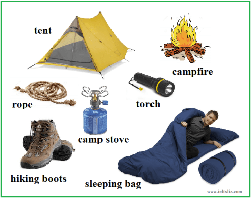 camping vocabulary pictures
