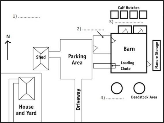 Map Listening Practice: Farm Layout