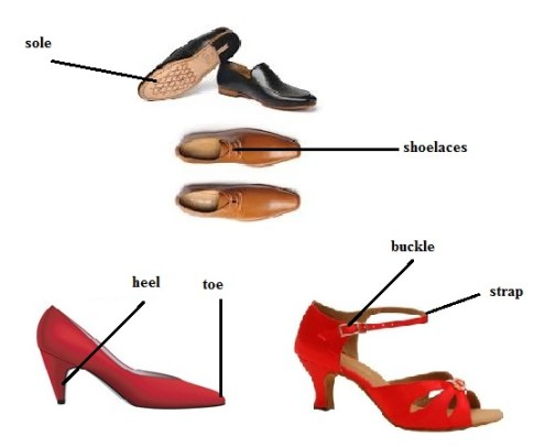 Shoe Parts Vocabulary