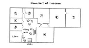 basement of museum listening