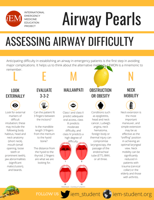iEM-infographic-pearls-airway - Assessing Airway Difficulty