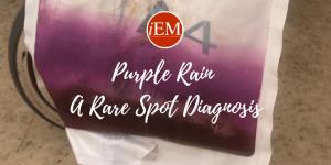 Purple rain urine