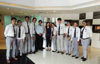 NAT Steel visit 2015- students with HR Manager