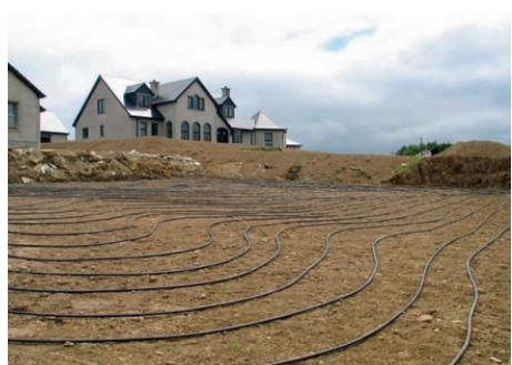 การวางระบบท่อวนแนบราบ บริเวณที่พักอาศัย