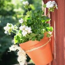 blomsterampel heklet