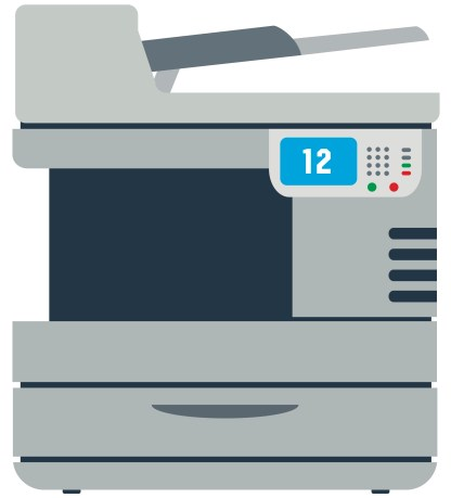 all in one printer clipart