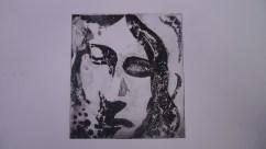 Stone angel, sugarlift etching