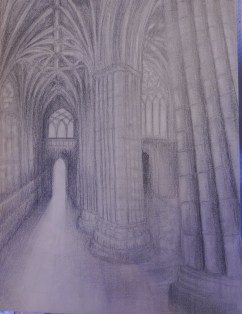 Cathedral, pencil