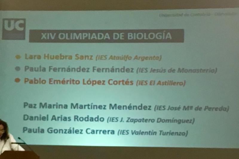 Premios Olimpiada de Biología