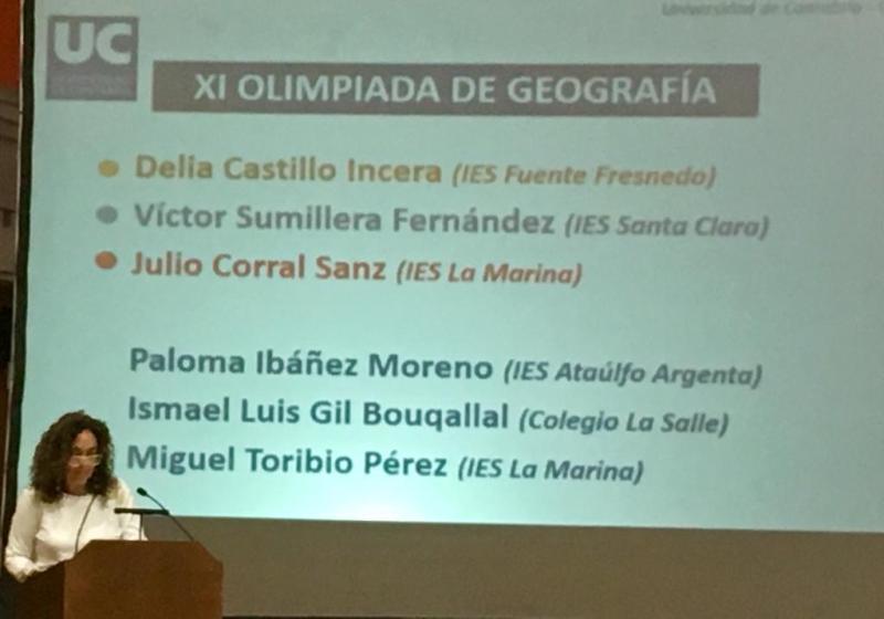 Premios Olimpiada de Geografía