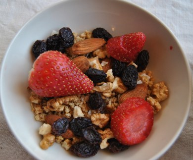 cereals and fruit
