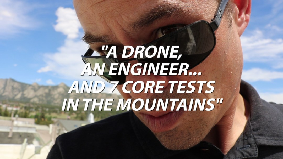 A Drone, An Engineer, And Seven Core Tests In The Mountains
