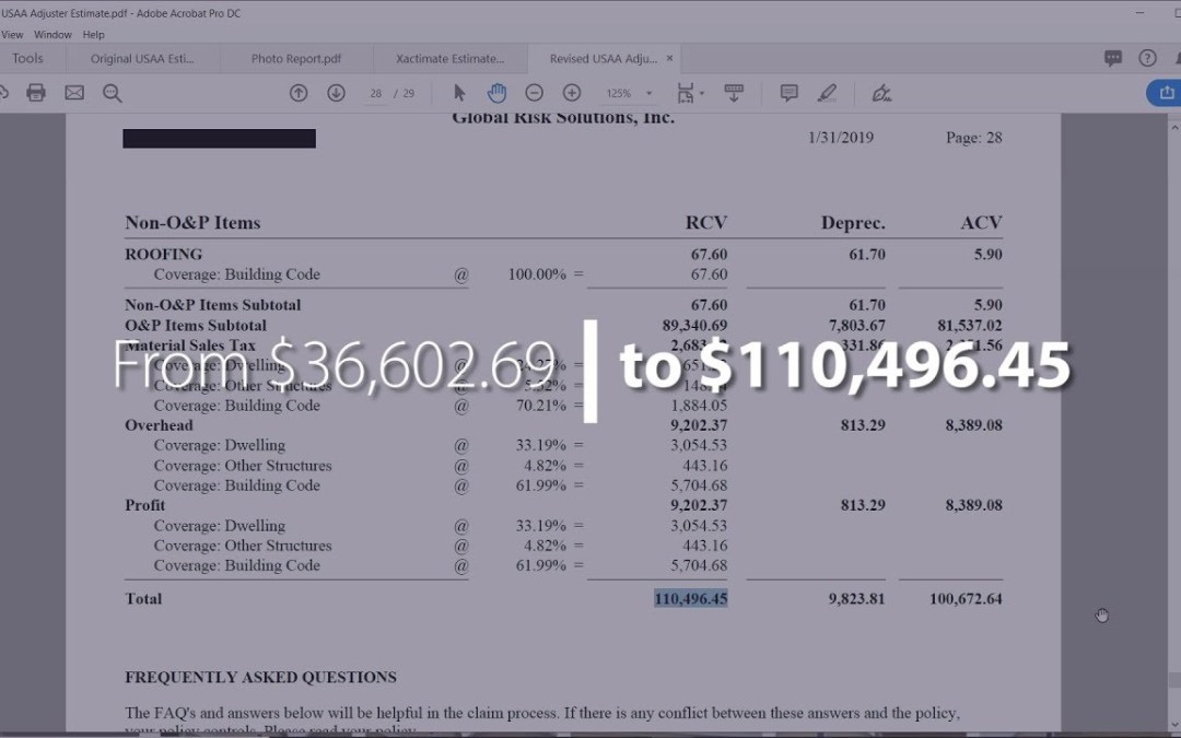 What's Wrong With This Insurance Estimate? | 08