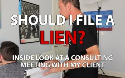 Contract Paperwork And Filing A Lien | Meeting w/ My Client