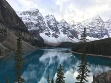 Lac Moraine, parc national du Banff en octobre