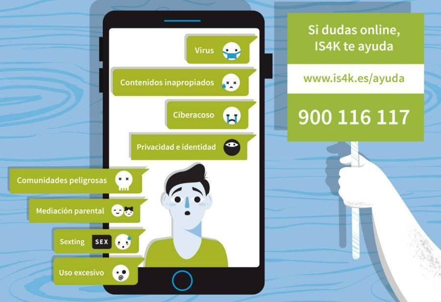 Teléfono ayuda de Internet Segura: 900 116 117
