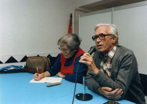 Anisia Miranda e Xosé Neira Vilas na inauguración do centro