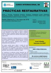 Cartel do curso de Prácticas Restaurativas