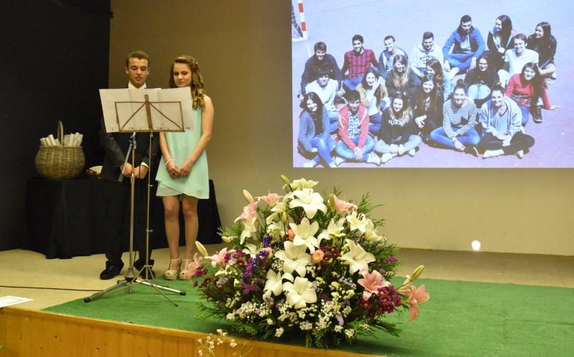 Os alumnos Antón Blanco Rey e Andrea Docampo Sánchez