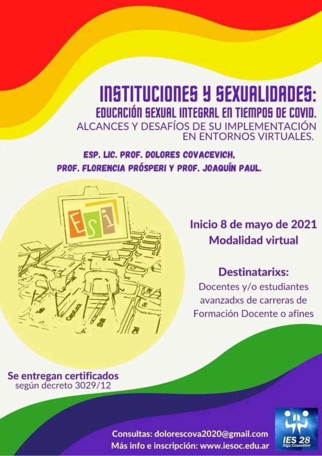 Instituciones y sexualidades: Educación Sexual Integral en tiempos de COVID. Alcances y desafíos de su implementación en entornos virtuales