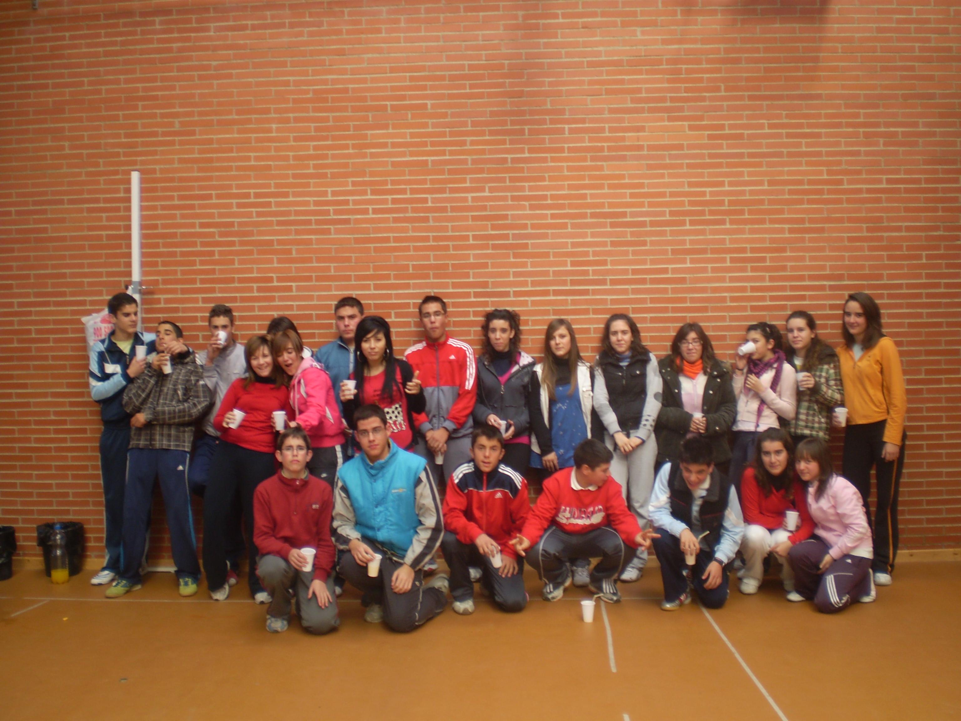 Grupo ganador Carrera Solidaria
